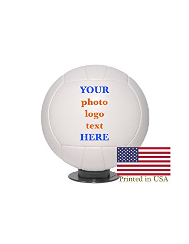 (Custom Personalized Full Size Volleyball - Ships in 3 Biz Days, High Resolution Photos, Logos & Text on Volleyball Balls - for Players, Trophies, MVP Awards, Coaches, Personalized Gifts)