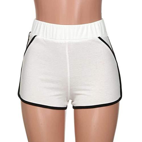 Pantalones Casual Yoga Físico Blanco Mujer Correr Boxershort Entrenamiento Verano Elástica Deportivos Cortos Casuales Cintura De Mujeres Para rp6q4r