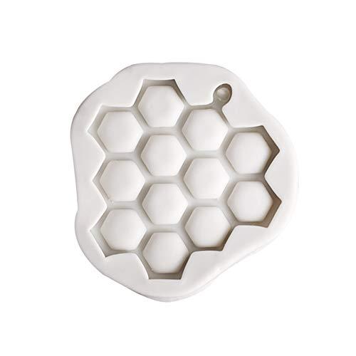 ハニカムケーキ金型シリコンベーキング 製菓道具 シリコン型 抜き型 チョコレート型 蜂の巣 可愛い クリスマスプレゼント作り(ホワイト)