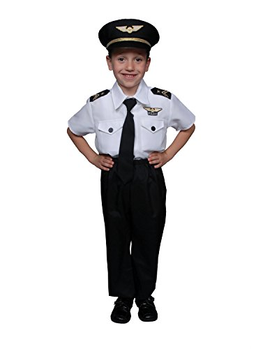 Airline Pilot Boy Toddler Deluxe Costume Size 2T (No Jacket)