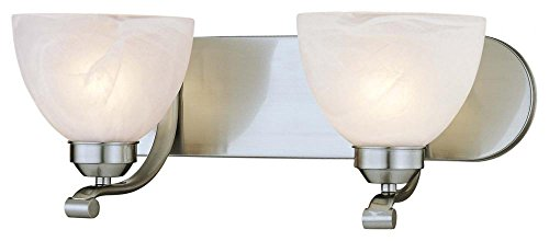 Minka Lavery 5422-84 Paradox 2 Light Bath Bar, Brushed Nickel 84 Paradox Bath Lighting