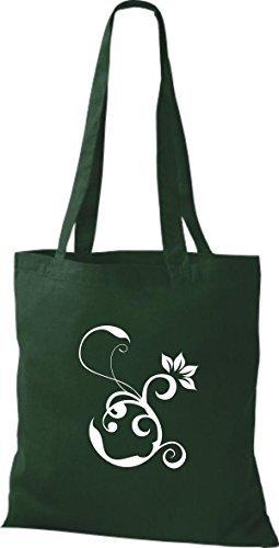 Shirtinstyle - Bolso de tela de algodón para mujer - bottle green