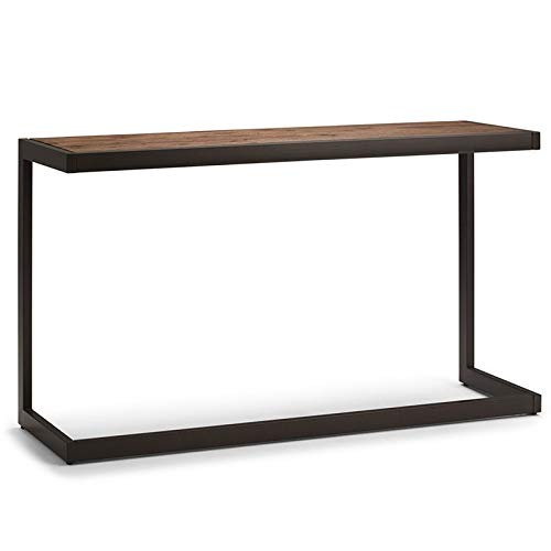 Simpli Home AXCERN-03 Erina Solid Acacia Wood and Metal 52 inch Wide Modern Industrial Console Sofa Table in Rustic Natural Aged Brown (Table Small Console Painted)