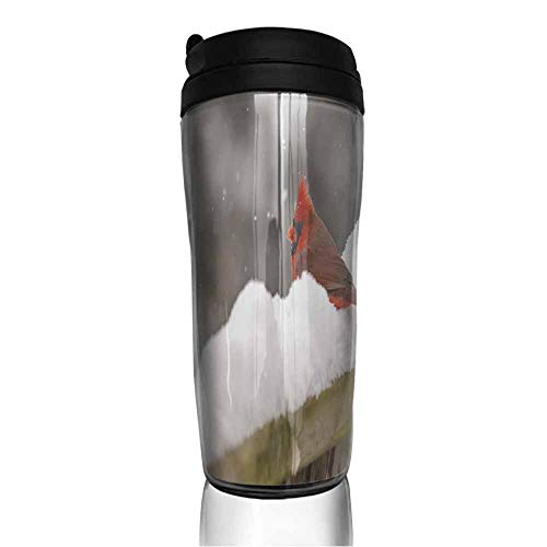 - coffee cups for mom Male Red Cardinal on Snow Covered Fence 12 oz,cup for coffee glass set