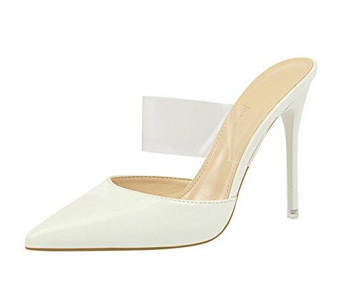 Escarpins 8 Blanc pour MiyooparkUK Miyoopark Femme DS86 wtqxZ6n40
