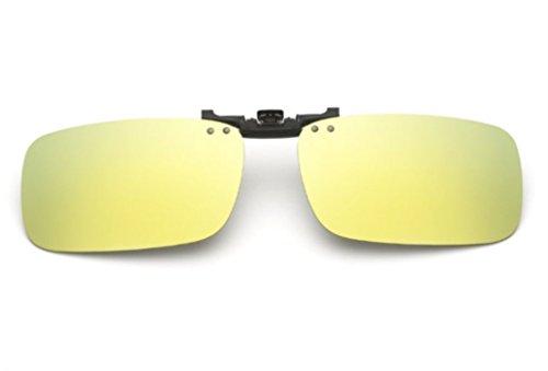 Gafas CLIPON1302 Mujer Clip Zone UK1stChoice Oro Sol Polarizado Las Unisex Mercurio Hombre amarillo en de qnTn8S4gB