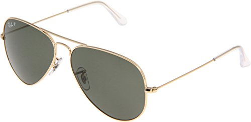 Ray-Ban RB3025 Aviator Large Metal Sunglasses 58 mm, Polarized, Arista Gold/Polarized Crystal - Aviator Ray Ban Rb3025