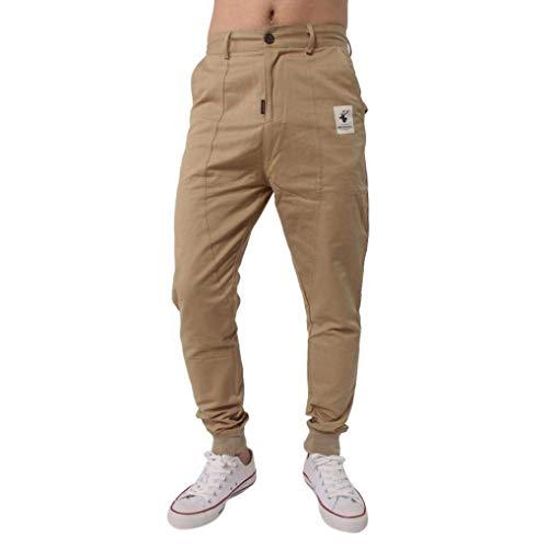 Da Tinta Uomo Casuali Unita Lunghi Corsa Hx Pantaloni Sportivi Larghi Chino Khaki Harem Fashion 1qgEwa