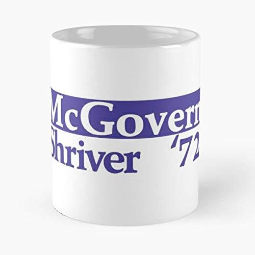 Politics 1972 Campaign Mcgovern Nixon - Morning Coffee Mug Ceramic Novelty Holiday