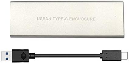 lzndeal Cubierta de Disco Duro SSD M.2 a USB Type-C 3.1 Cubierta ...