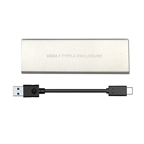 Coomir Unidad de Disco Duro SSD M.2 a USB Tipo-C 3.1 NVME NGFF PCIE HDD Recinto
