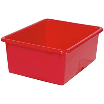 This Item Steffy Wood Products Red Storage Tub, 5 Inch By 10 1/2 Inch By  13 Inch