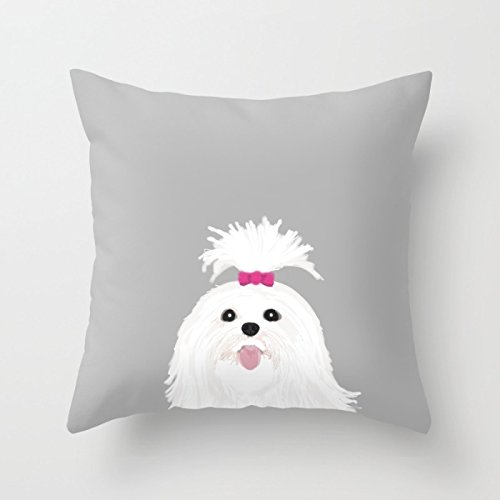 Dogs Pillowcase 18 X 18 Inch / 45 By 45 Cm Best Choice For Family Room, April Fool's Day, Play Room, Flag Day, Kids Room, Outdoor, Kitchen, Easter, Bedroom, Independence Day, With Twice Sides Printed