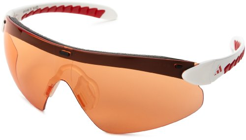 - adidas supernova pro L a176-6051 Shield Sunglasses,White & Red Frame/LST Bright Lens,One Size