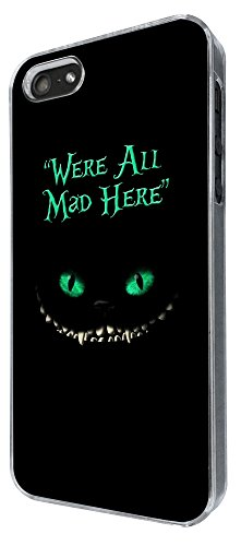 784 - We're All Mad Here Scary Cat Design iphone 5 5S Coque Fashion Trend Case Coque Protection Cover plastique et métal