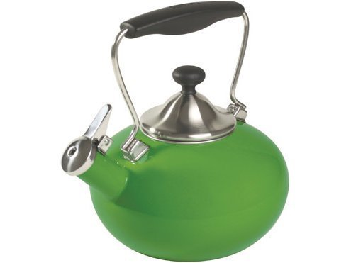 Chantal Bridge Enamel On Steel Teakettle, Festive Green by C