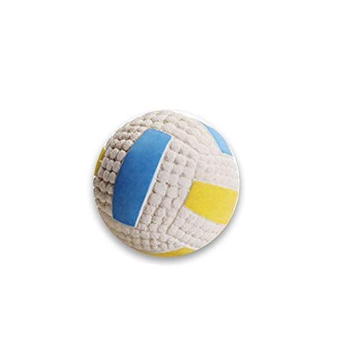 (Xinhuamei Dog Toy Ball Tooth Cleaning Nontoxic Bite Resistant Toy Ball Pet Football Training Ball Latex Interactive Sounding Teeth Tennis)