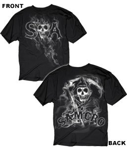 Sons of Anarchy Reaper/Samcro Black T-Shirt Large