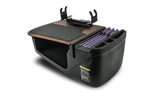 AutoExec AUE24003 Efficiency GripMaster Car Desk Mahogany Finish with Printer Stand
