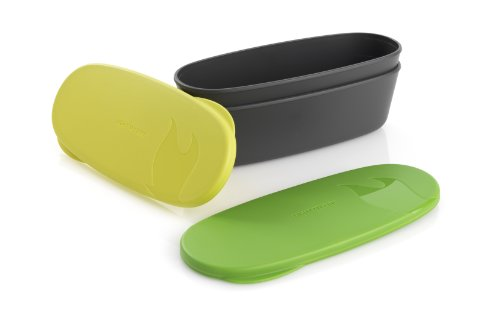 Light My Fire Snap Box Oval Waterproof Food Storage Container, 2-Pack, Lime/Green