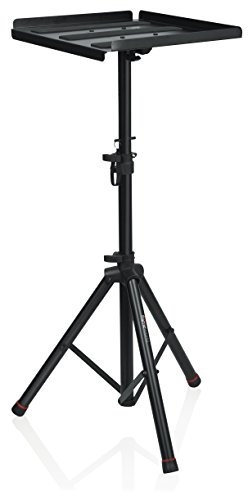 "Gator Frameworks Heavy Duty Deluxe Adjustable Multi-Media Gear Stand Featuring 100x100 Vesa Mounting Brackets | Ideal for Laptops and more; Min/Max Height - 36""/48"" (GFW-UTL-MEDIATRAY2) from Gator Frameworks"