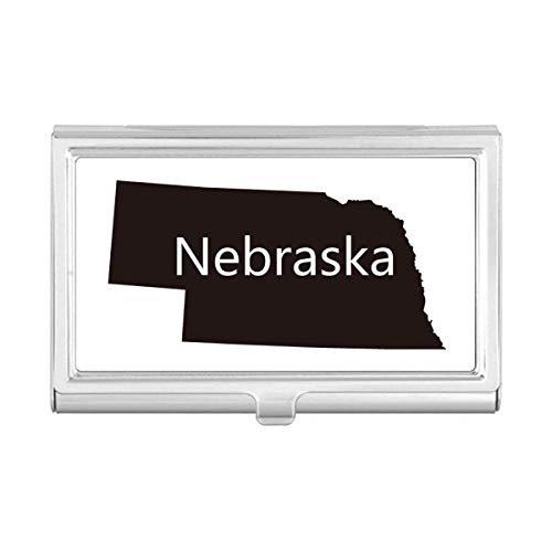 (Nebraska America USA Map Silhouette Business Card Holder Case Wallet)