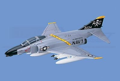 "F-4B Phantom II - Navy, VF-84 ""JollyRoger"", Loaded Aircraft Model Mahogany Display Model / Toy. Scale: 1/45"