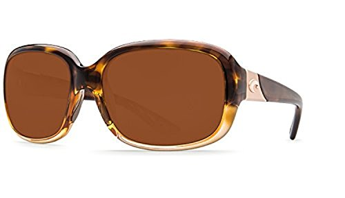 Costa Gannet Sunglasses & Cleaning Kit Bundle Shiny Tortoise Fade / Copper 580p