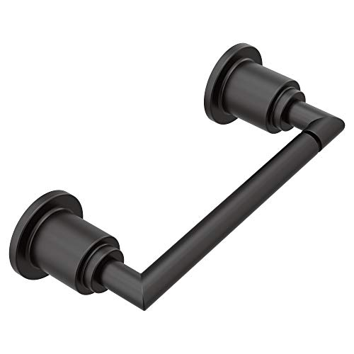 Moen YB0808BL Arris Pivoting Toilet Paper Holder, Matte Black (Loft Bath Line Toilet Roll)