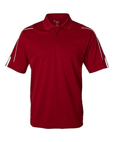 Adidas Golf Mens ClimaLite 3-Stripes Cuff Polo A76