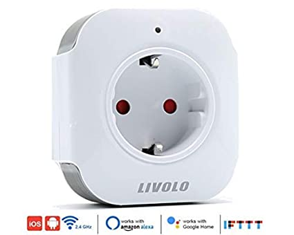 Enchufe Inteligente WiFi LIVOLO, compatible con ALEXA, Google Home e IFTTT. Si no