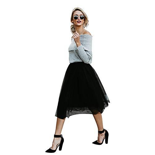 iYBUIA Girls' Favorite Fashion Skirt High Waist Solid Color Skirt