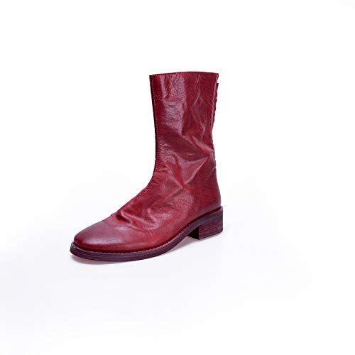 à Femme Bout Rond Red Bottines aRzpUYxwpq