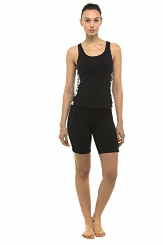 Privado isla Hawaii UV Rash Guard mujer Skinny pantalones cortos pantalones Negro