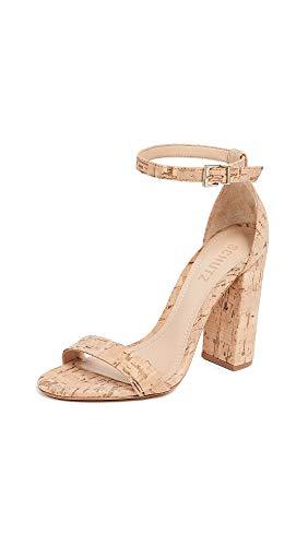Heels Cork - SCHUTZ Women's Enida Heeled Sandal Natural 8 M US
