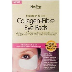 Reviva Labs Eye Care Collagen Fibre Eye Pads with Myoxinol 3 pairs (Pack of 5) by Reviva Labs