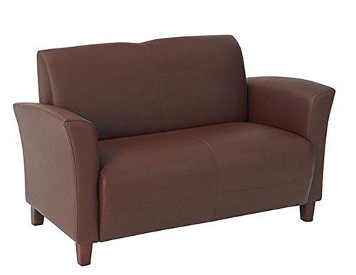 Office Star SL2272-EC6 Love Seat Wine Eco Leather