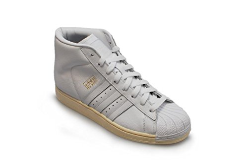 Adidas Originals Pro Model Mens Hallo Tops Trainer-Turnschuhe (uk 8,5 Us 9 Eu 42 2/3, Ftwwht / ftwwh FTWWHT/FTWWHT/OWHITE B25424