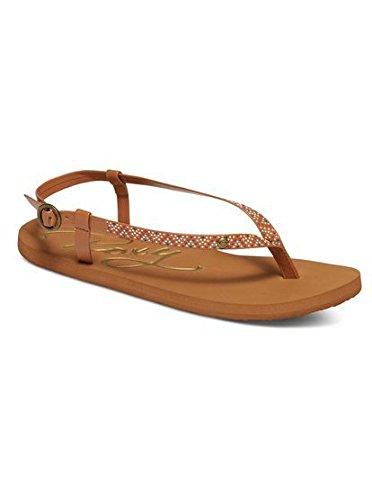 Roxy Women's Rosarito Flat Sandal, Brown, 8 M US