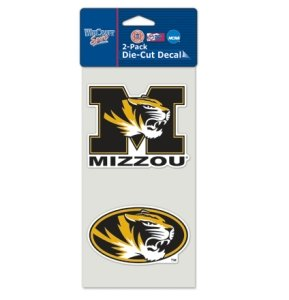 (Missouri Tigers Set of 2 Die Cut Decals)