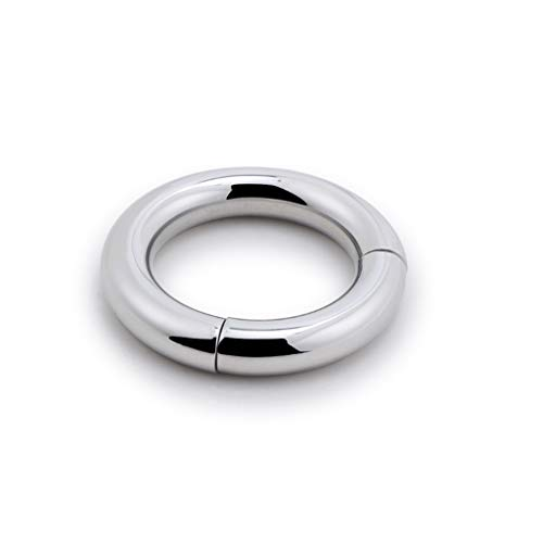 CSH Jeans Stainless Steel Lock Fine Ring Magnet Suction Delay Ring Weight Ring Male Equipment Male Flirt Tools Relax Toys T-Shirt (Size : 38mm)
