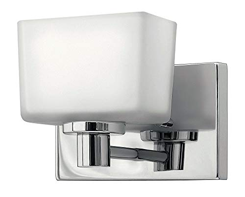 - Hinkley 5020CM-LED Contemporary Modern One Light Bath Wall Sconce from Taylor collection in Chrome, Pol. Nckl.finish,