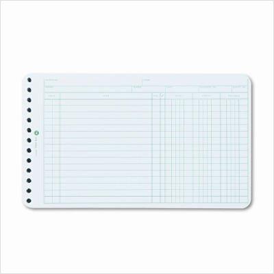Extra Sheets for 6-Ring Ledger Binder, 100/Pack WLJ75850