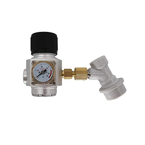Heavy Duty CO2 Keg Charger, Brewing Mini CO2 Gas Regular,Beer Nitrogen Argon CO2 Dispenser (5/8