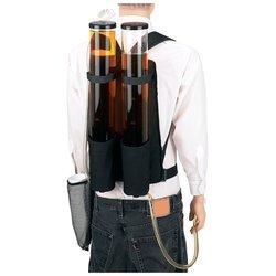 Wyndham House Dual Beverage Dispenser Backpack 3.7qt Clear Holders Padded Shoulder Straps
