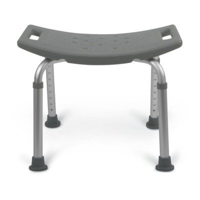 Medline MDS89740RW Aluminum Bath Benches without Back, Gray (Pack of - Medline Benches Aluminum Bath