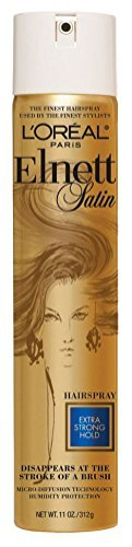 (L'Oreal Paris Elnett Satin Hairspray, Extra Strong Hold, 11 Ounce (1 Pack))