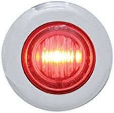 United Pacific 37967 3 LED Mini Dual Function Clearance Marker W// Bezel Amber LED//Amber Lens