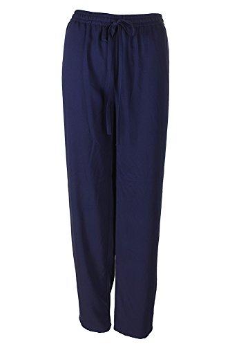 Michael Michael Kors Womens Elastic Waist Flat Front Casual Pants Navy M