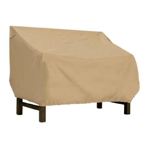 Classic Accessories 58272 Terrazzo Patio Bench/Loveseat Cover, Medium Collection Loveseat Glider